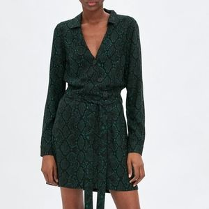 NWT Zara Trafaluc Snake Animal Print Mini Dress